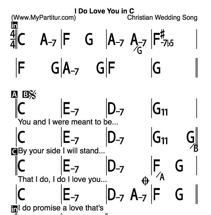 Mypartitur On Twitter I Do Love You Chords In C Lyrics Iddpz