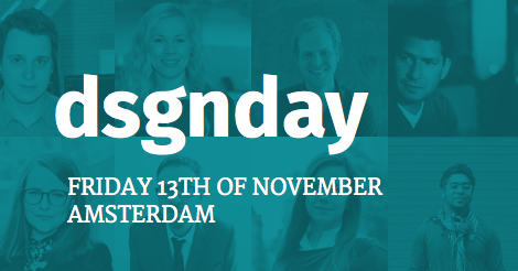 'Our' @rubenbos is hosting this year's @dsgndayconf on November 13th. See you there? http://t.co/e3MjZmnyuj http://t.co/IJz2zPcvTy