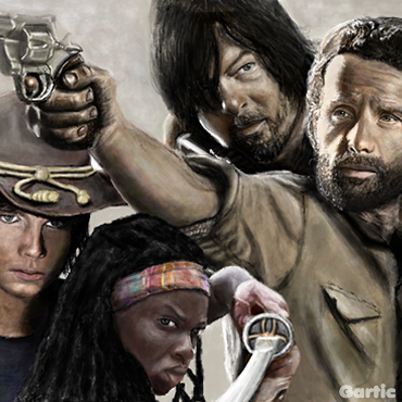 Gartic On Twitter The Walking Dead Draw Art Rickgrimes