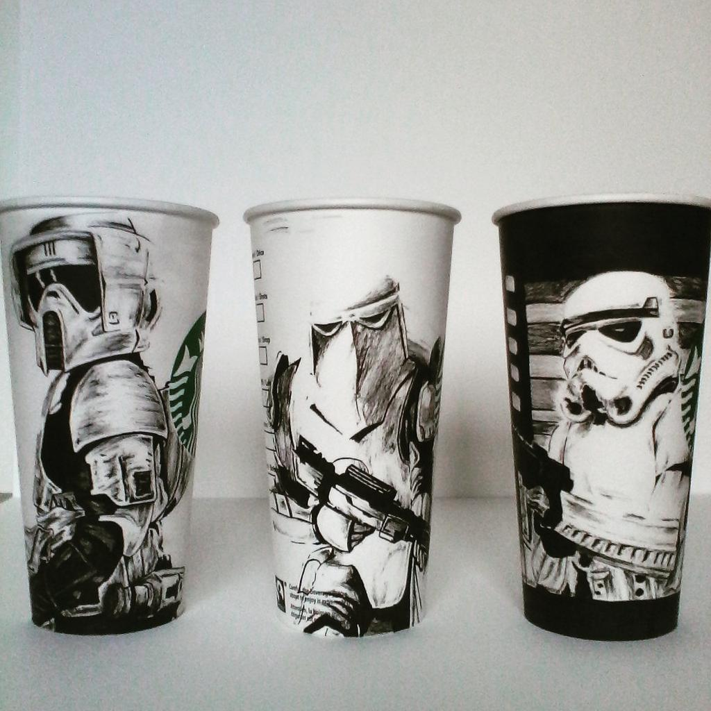 Pirate On Twitter The Empire Collection Hand Draw Custom Starbucks Cups Drawingdesignstarwarsawesomedesign Tco A7uv6MuLaH