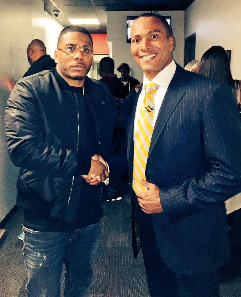 Here's @Nelly_Mo , in town to perform at the St. Mary's Children's Hospital benefit concert. #cool @NickCannon http://t.co/SiuIDLpgF6