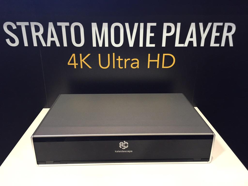 It's here! It's here! New @kaleidescape 4K movie player! #Strato #CEDIA15 http://t.co/Hes3vGb9IZ