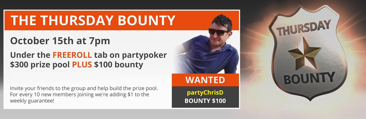 Party poker thursday bounty freeroll password party poker not working mac