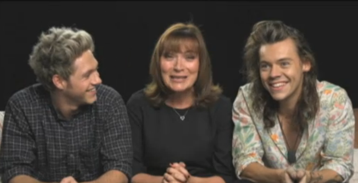 When #Narry met @reallorraine! See the full @onedirection interview on #ITVLorraine Monday! http://t.co/w54avgWEqB http://t.co/nusTzv1R4i
