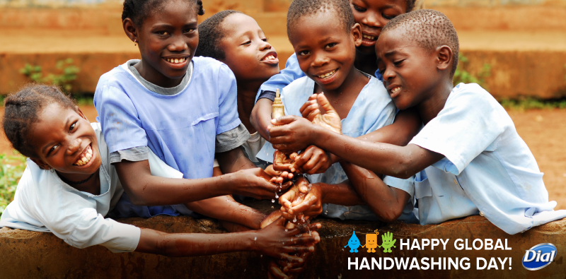 The Dial® Brand is honoring Global Handwashing Day is donating $50K to @unicefusa for Water & Sanitation programs. http://t.co/sRBJhyHZiY