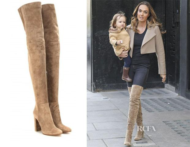 7e07286af25 Tamara ecclestone s gianvito rossi suede over-the-knee boots ...