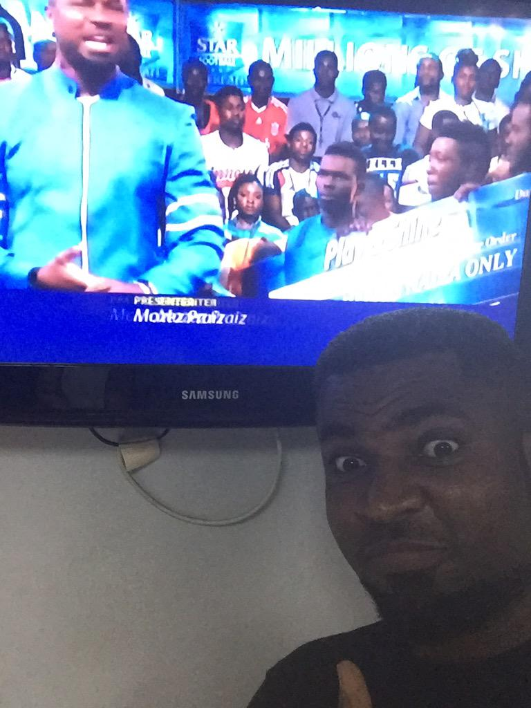 """Peeps almost stoned me off the TV saying """"Who takes selfies in front of the TV"""" Well, I do!!!"""