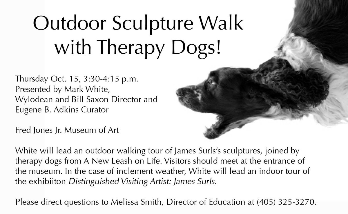 In ONE HOUR join us for a walking tour with therapy dogs! http://t.co/PG5g9m1MX8