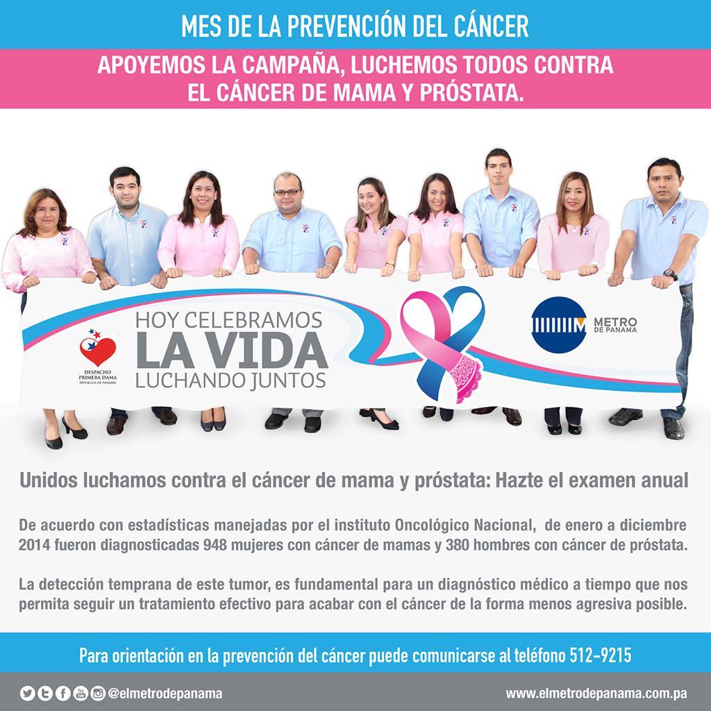 cancer de mama y prostata panama