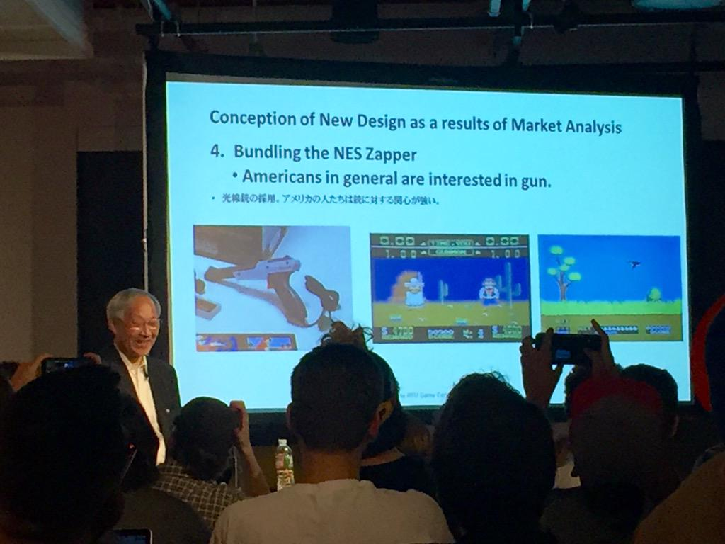 "Masayuki Uemura: ""Americans LOVE guns."" #Nintendo @NYUGameCenter http://t.co/LWXSe88umr"