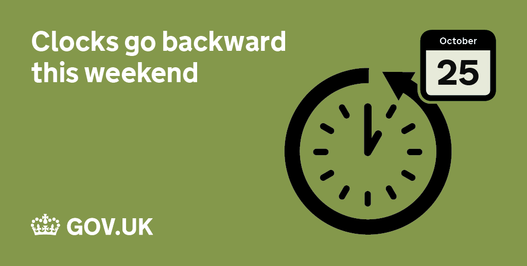 Don't forget that clocks go back 1 hour this weekend, switching to Greenwich Mean Time: https://t.co/xIoFPAdXMy https://t.co/GiPjpiEtUx