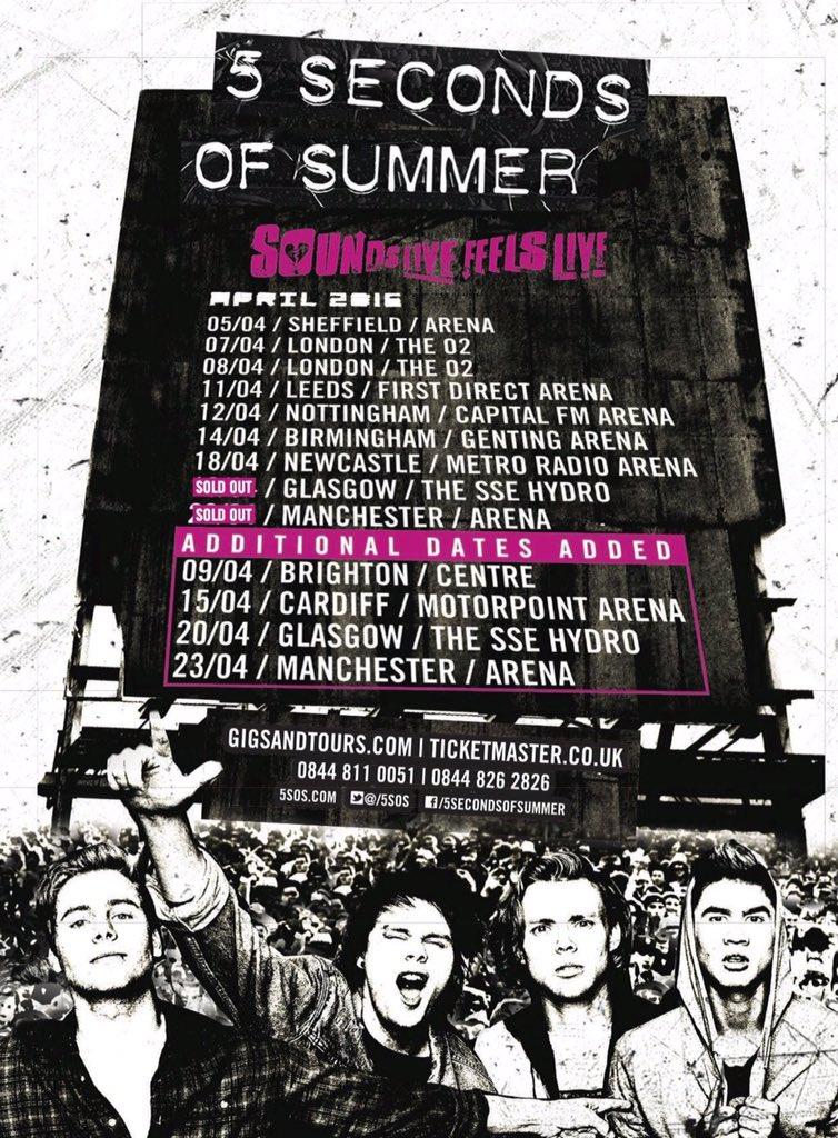 Seconds Of Summer Tour  Setlist