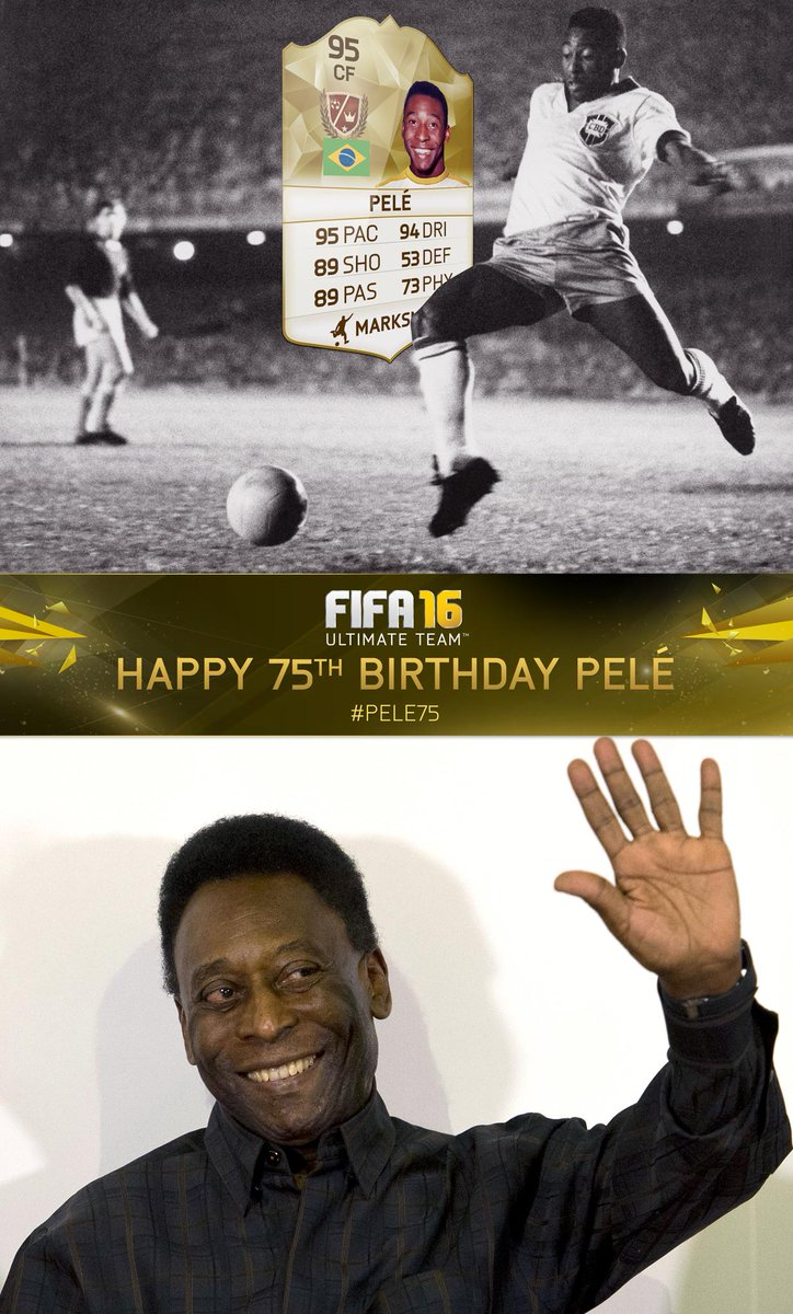 Happy birthday @Pele! RT and follow for a chance to win a tradeable Pele Legend item. Only on Xbox. #Pele75 #FIFA16