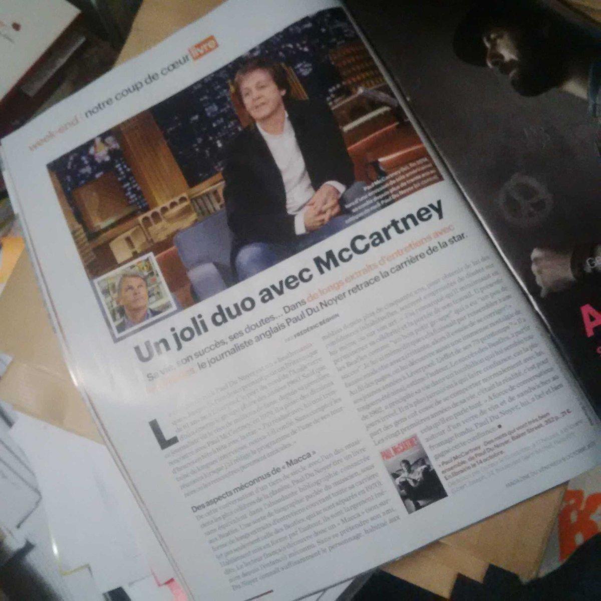 Dans #LeParisienMag bel article sur le livre de #PaulduNoyer et @PaulMcCartney signé @fredbeghin !pic.twitter.com/YHufvxzwO6