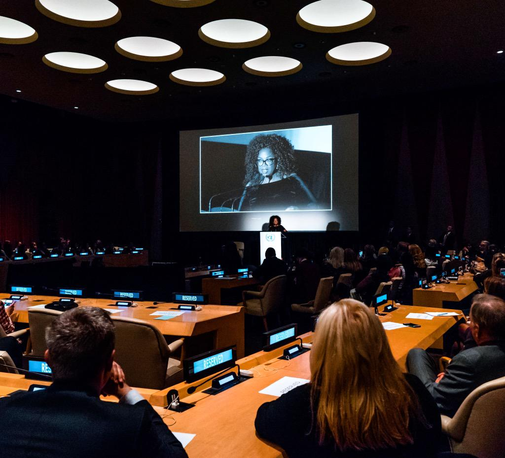 Honored to screen #Belief at the @un tonight. Thank you for hosting our team. An extraordinary night for sure. http://t.co/Br16aVOcYT