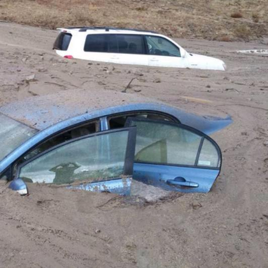 California Rain Causes Floods; Mudslide Strands Motorists on Freeway http://t.co/eYRz5IpAsO