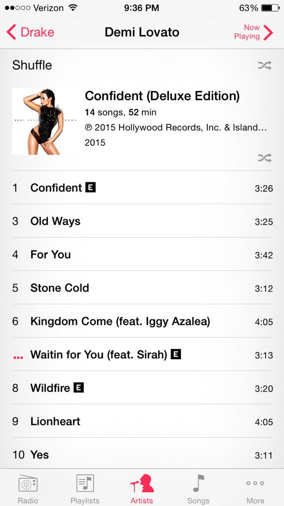 ITS OUT. @ddlovato I'm SO proud of you, the entire album is absolutely incredible