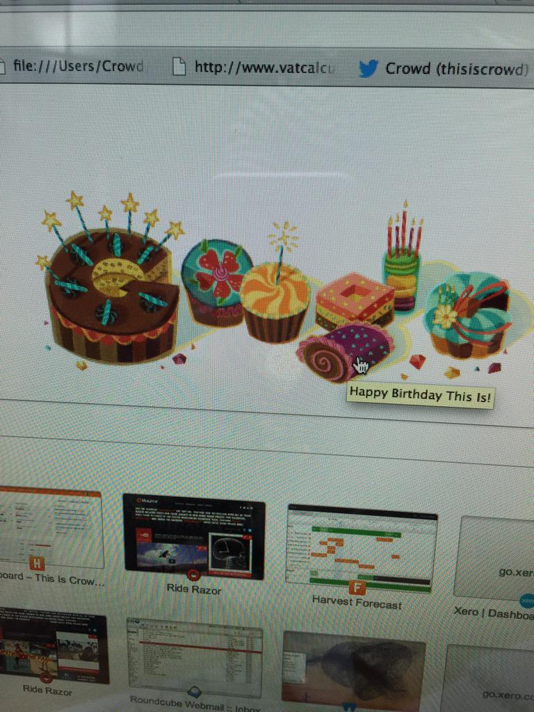 Crowd On Twitter Thank You Google For The Birthday Wishes