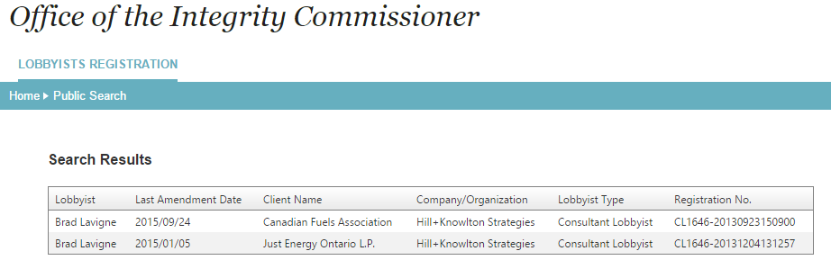 Senior #NDP campaign strategist Brad Lavigne was registered lobbyist for big oil until a few weeks ago #elxn42 http://t.co/YmvCi6afHk