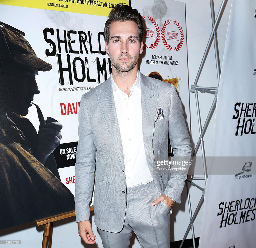 "James Maslow at the Opening Night Of Sir Arthur Conan Doyle's ""Sherlock Holmes"" @jamesmaslow http://t.co/bZU7qSXHtD"