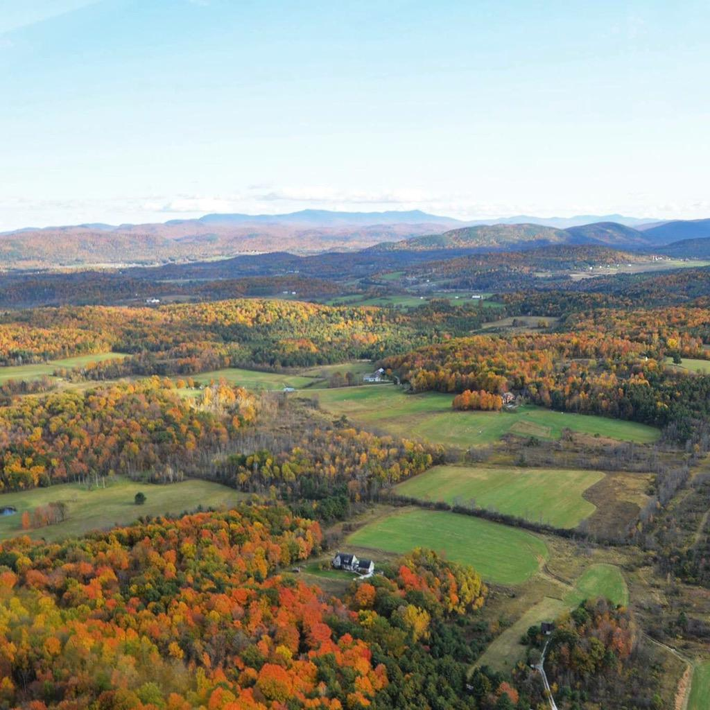 More from my flight yesterday. #vt #fall @ShelburneMuseum #lakechamplain #greenmountains