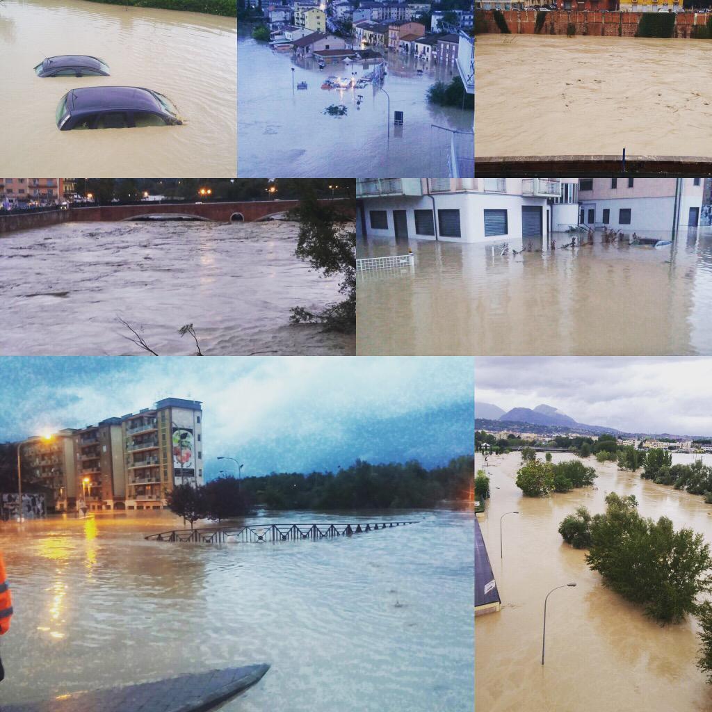 Inondazione colposa a Benevento in Campania.