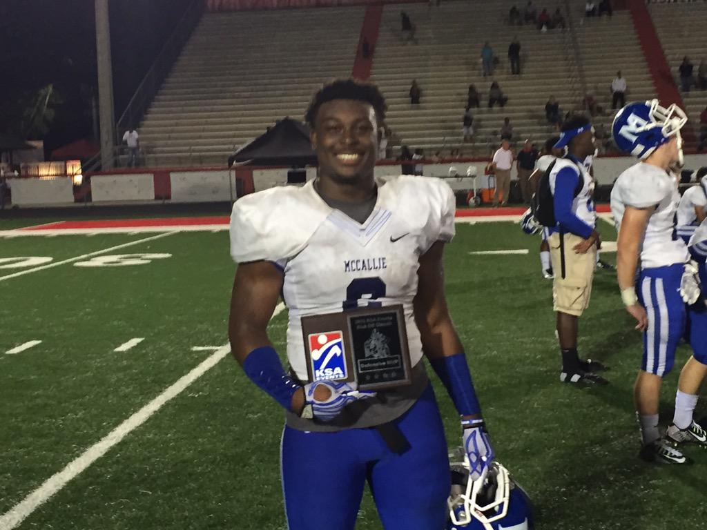 Mccallie Football On Twitter Congrats To Shawn Mccolley Def Mvp