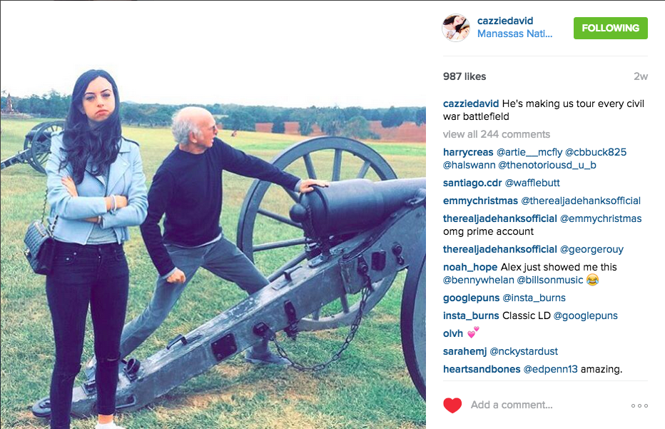 Big fan of Larry David's daughter's instagram. http://t.co/d7DwBvpOBX