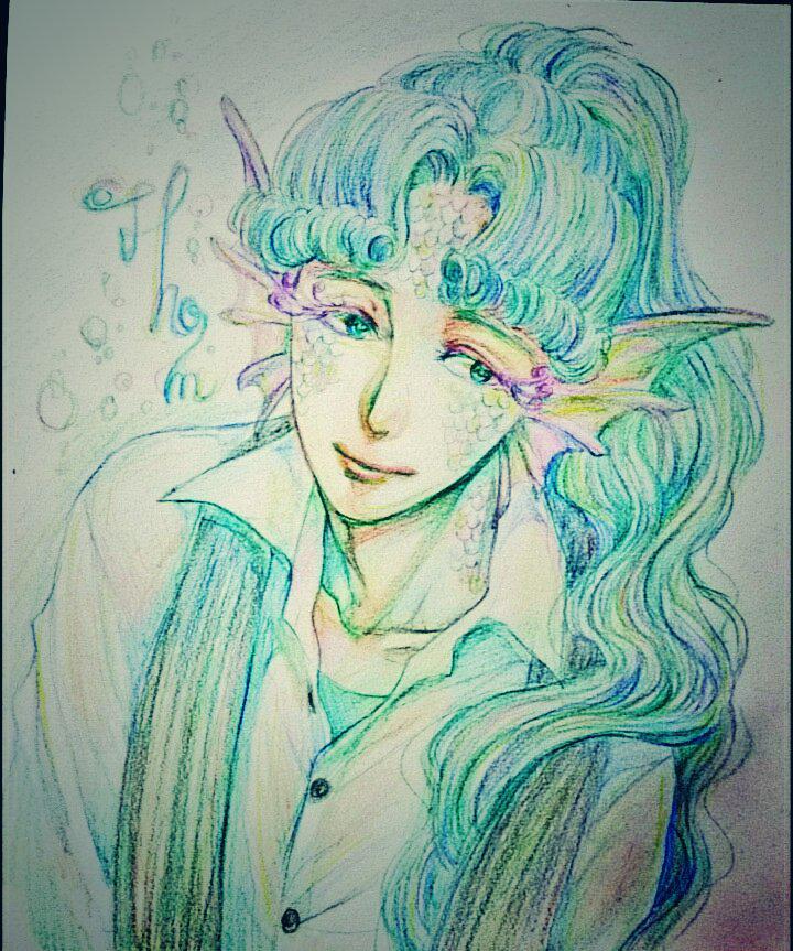 @Sawa_2b うふふその紫が魅惑的なのです…/// あくまで私の原型絵なので期待は程々に…! わっわっ、では我が家の鱗要員のトムを…! 飾り睫毛がピンクで、目は灰寄りの緑、服と後ろ髪に固定はありませんのでお好きにどうぞ~!