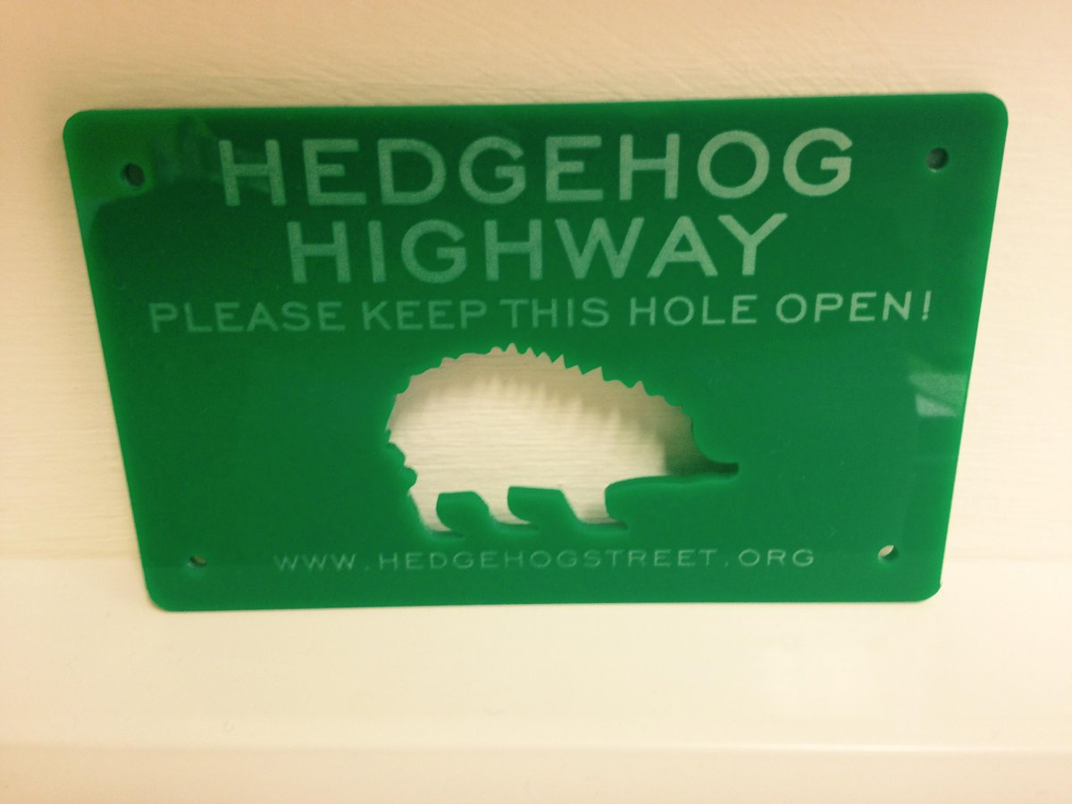 #FreebieFriday! Follow and RT to win a #hedgehog highway sign - display over your garden 'hog hole so it stays open! http://t.co/Y55Pp0oXsI