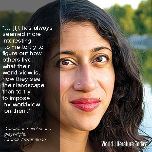 Visiting @WorldLitToday & @UofOklahoma for the 2015 #NeustadtFestival next week, Canadian novelist Padma Viswanathan http://t.co/7zWouEROUe