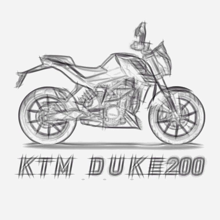 ministryofkongz on twitter   u0026quot my  ktm  duke200  sketch
