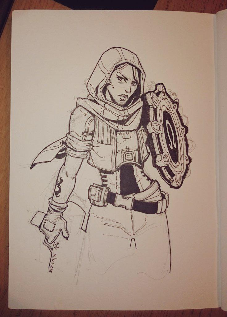 Badass Athena of Tales from the @Borderlands #inktober http://t.co/SEBTgQw9X2