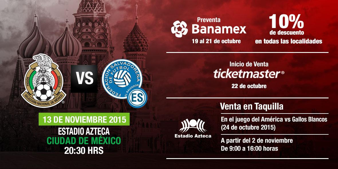 Rusia 2018: El Salvador vs Mexico en ciudad mexico el 13 de noviembre del 2015.  Informacion del juego. CReg5tuUAAA4K02