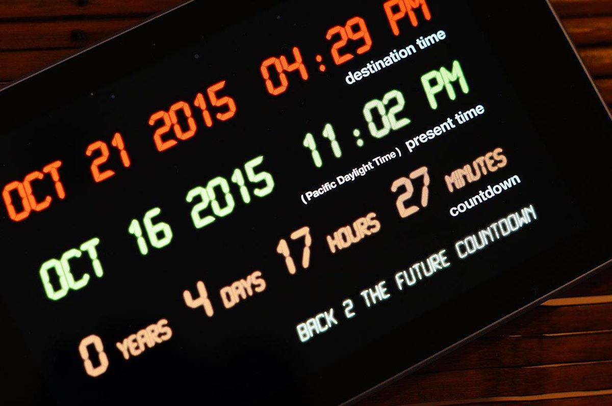 デロリアンの到着予定日時は、現地時間で今年10月21日(水)午後4:29 (日本時間:10月22日(木)午前8:29)  https://t.co/nfLRm21BX4