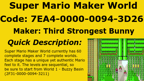 MarioMaker Spotlight on Twitter: