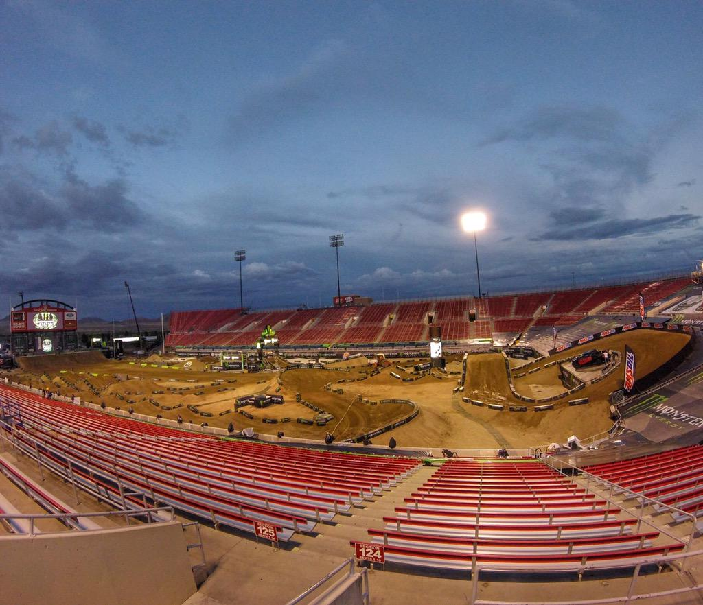 The track is looking good & the riders are feeing 100%. Stoked to see what tomorrow will bring!