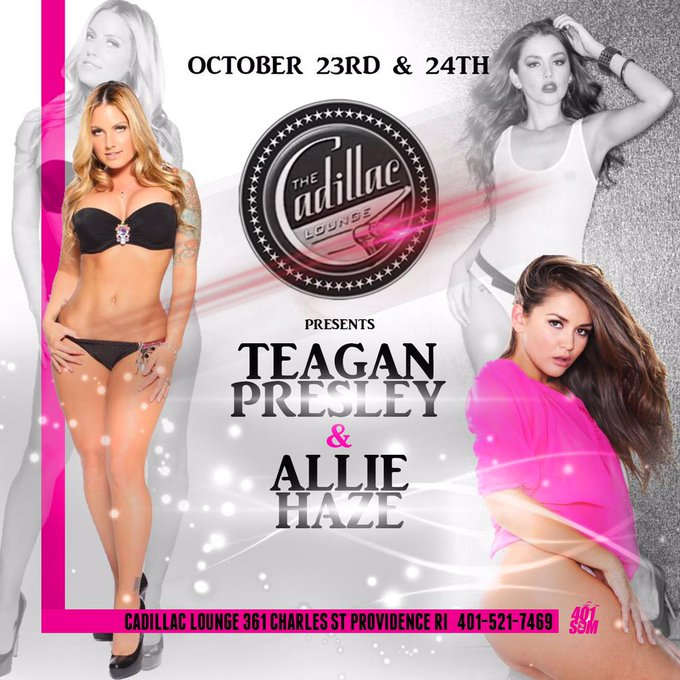 RT @Thecadillacloun: Don't forget we have @MsTeagan & @alliehaze rocking the house next weekend!! #teaganpresley