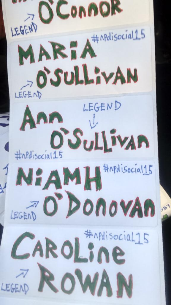 No #library conference in Ireland will have cooler badges than our #npdisocial15 hand drawn #DIY legend badges!! http://t.co/sSIy4p21xI