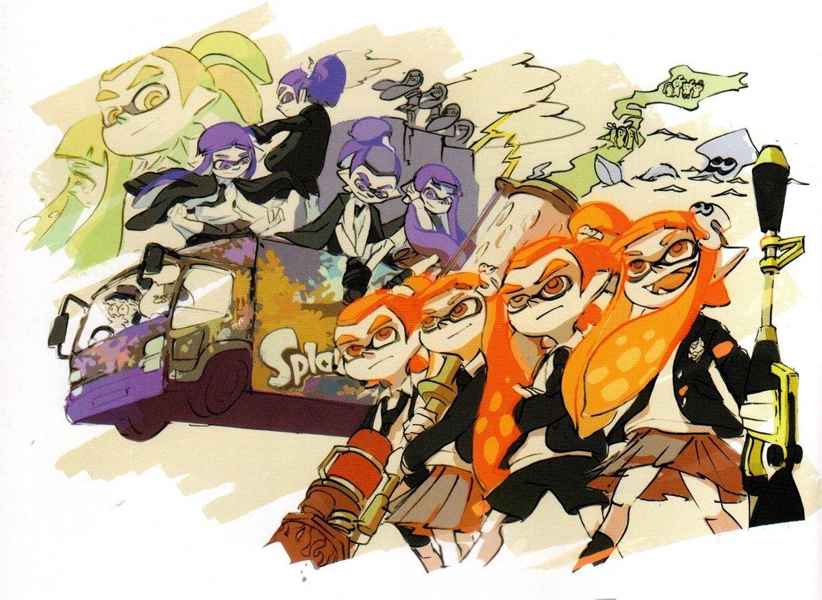 Nouveau billet sur le blog avec une présentation en images du Splatoon Ikasu Artbook http://t.co/Agsf1tnZSR http://t.co/BaMXNJBpPx