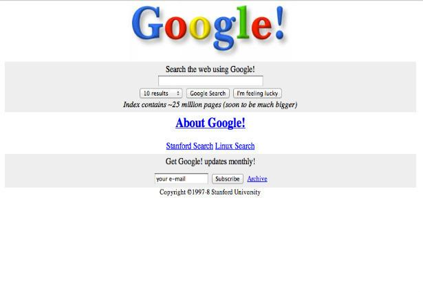 What the world's biggest websites looked like at launch: http://t.co/HobQgIYOLg http://t.co/SnCbbpfxM7