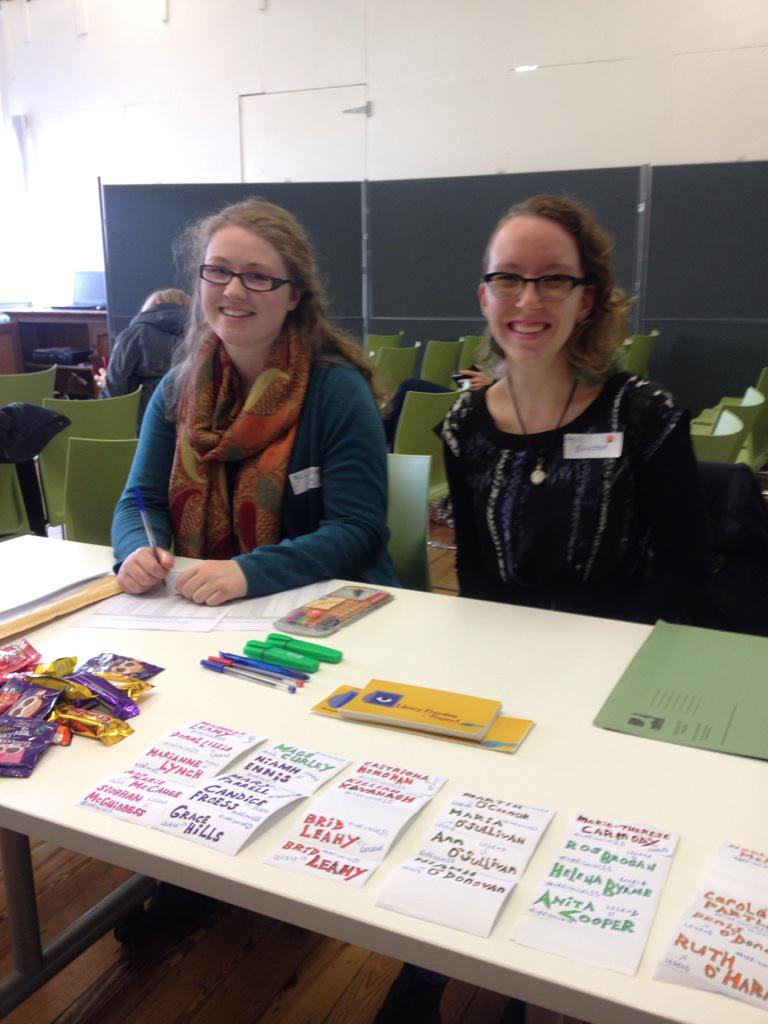 #npdisocial15  Our wonderful event assistants Suzanne and April ready at the registration desk http://t.co/QSV4bl41Wz