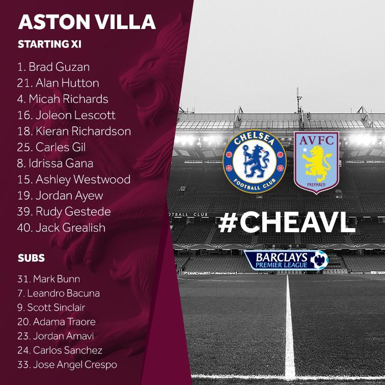 Chelsea v Aston Villa Saturday 17th October 2015 CRhVf07UsAANW3m