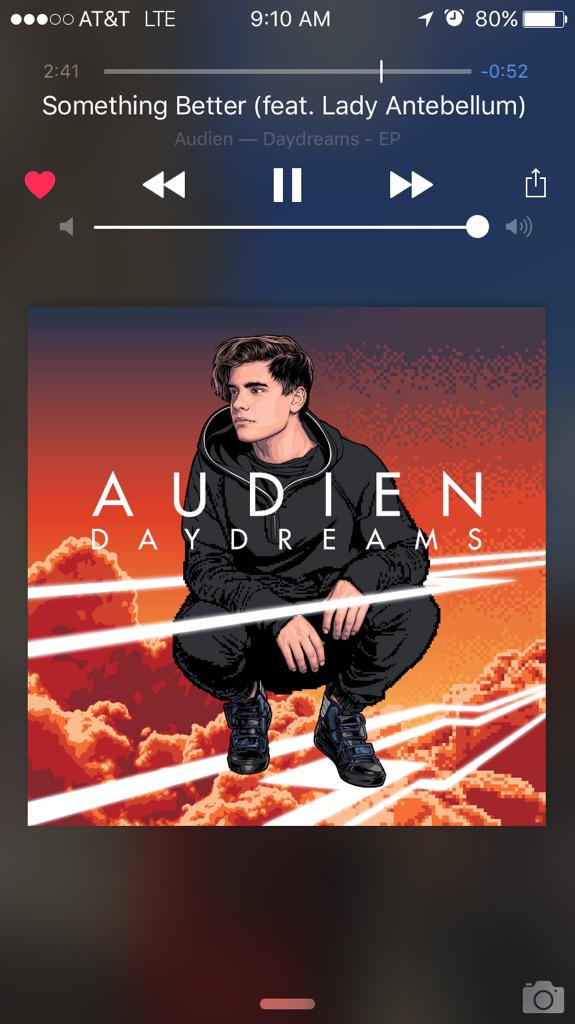 @Audien @ladyantebellum LOVE LOVE LOVE this track! Please release more songs together! #SomethingBetter