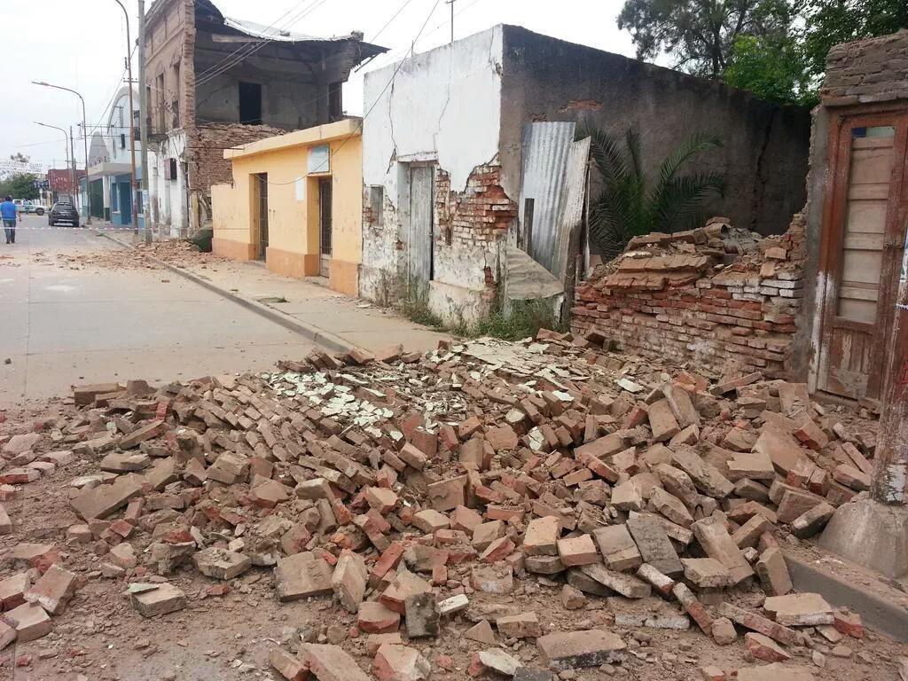 Forte Terremoto Salta Argentina, si registrano danni a El Gapon.