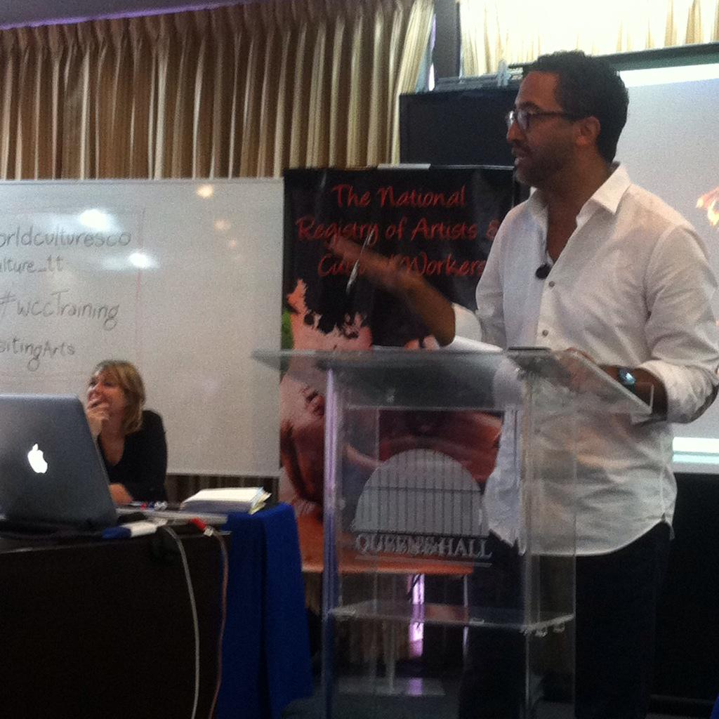 Brian Williams of Step Afrika! Speaking at World Cultures Connect @WorldCulturesCo @VisitingArts #wcctraining http://t.co/MuY2XR7vY7