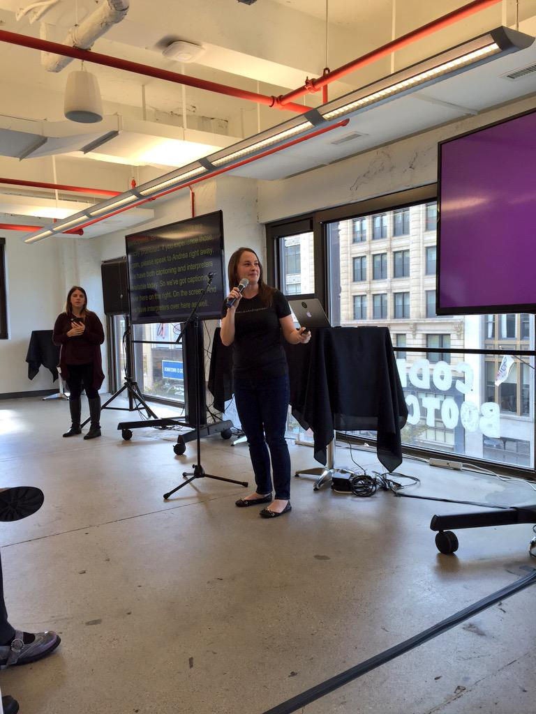 Our cofounder @eacarlson welcoming #alterconf participants at @GrandCircusCo :) http://t.co/YUmXeUdwvW