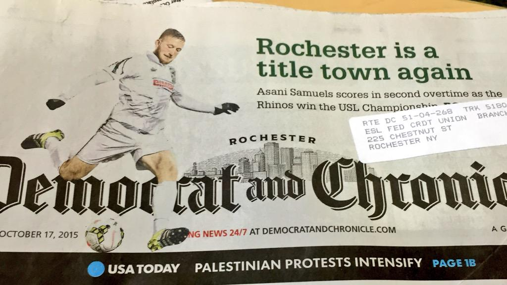 LOVE it. Again. @RochesterRhinos #fuelthecrashproud #USLChampions2015 http://t.co/8emnRycmWi