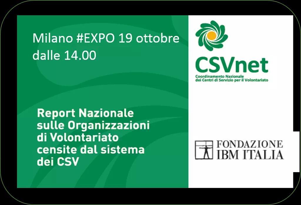 #OdVreport  Lunedì 19/10 ore 14.00, #expomilano2015 @CSVnet @FondazioneIBM  #volontariato http://t.co/zwQOXjoAXA