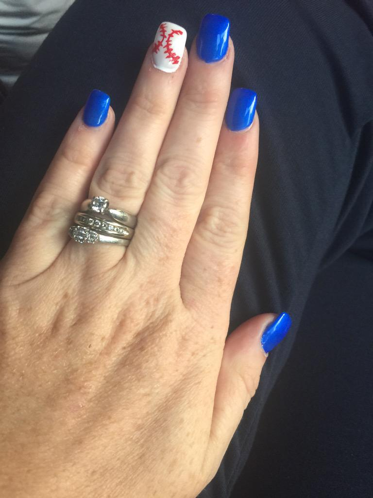 Tracycityline Bluejays Mommy And Daughter Blue Jays Nails Pic Twitter K9hrz0ceva